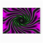Neon Pink and Green Dizzy Fractal Postcards 5  x 7  (Pkg of 10)