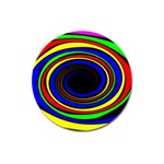 Primary Colors Bright Fractal Magnet 3  (Round)