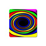 Primary Colors Bright Fractal Magnet (Square)