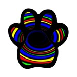 Primary Colors Bright Fractal Magnet (Paw Print)