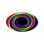 Primary Colors Bright Fractal Sticker Oval (10 pack)