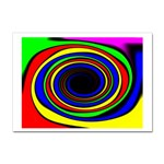 Primary Colors Bright Fractal Sticker A4 (10 pack)