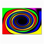 Primary Colors Bright Fractal Postcard 4 x 6  (Pkg of 10)