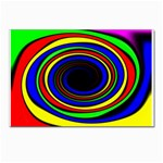 Primary Colors Bright Fractal Postcard 5  x 7