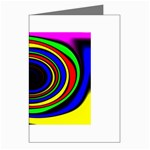 Primary Colors Bright Fractal Greeting Card