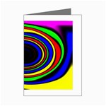 Primary Colors Bright Fractal Mini Greeting Card