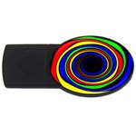 Primary Colors Bright Fractal USB Flash Drive Oval (2 GB)