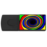 Primary Colors Bright Fractal USB Flash Drive Rectangular (1 GB)