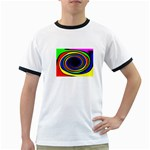 Primary Colors Bright Fractal Ringer T