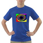 Primary Colors Bright Fractal Dark T-Shirt