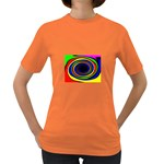 Primary Colors Bright Fractal Women s Dark T-Shirt