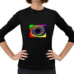 Primary Colors Bright Fractal Women s Long Sleeve Dark T-Shirt