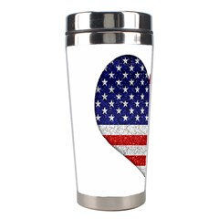 Grunge Heart Shape G8 Flags Stainless Steel Travel Tumbler by dflcprints