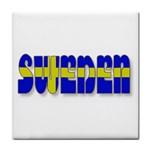 Flag Spells Sweden Ceramic Tile