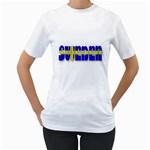 Flag Spells Sweden Women s Two-sided T-shirt (White)