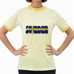 Flag Spells Sweden Women s Ringer T-shirt (Colored)