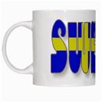 Flag Spells Sweden White Coffee Mug