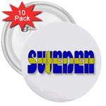 Flag Spells Sweden 3  Button (10 pack)