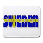 Flag Spells Sweden Large Mouse Pad (Rectangle)