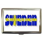 Flag Spells Sweden Cigarette Money Case