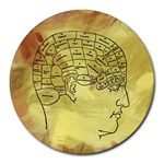 Brain Map 8  Mouse Pad (Round)