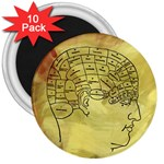 Brain Map 3  Button Magnet (10 pack)