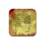 Brain Map Drink Coasters 4 Pack (Square)