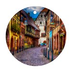 Alsace France Round Ornament