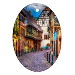 Alsace France Oval Ornament