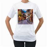 Alsace France Women s Two-sided T-shirt (White)