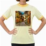 Alsace France Women s Ringer T-shirt (Colored)