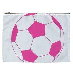 Soccer Ball Pink Cosmetic Bag (xxl) by Designsbyalex