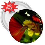 Butterfly 3  Button (100 pack)