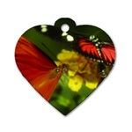 Butterfly Dog Tag Heart (Two Sides)