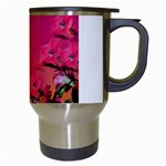 Two Hummingbirds in flight Travel Mug (White) from Hummingbird and Butterfly Gifts Right