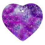 Starlight Of Butterflies Ornament (Heart)