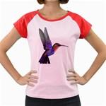Rainbow Hummingbird Women s Cap Sleeve T-Shirt