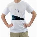Dolphin and Hummingbird Men s T-Shirt (White)