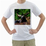 Majestic Moose Men s Two-sided T-shirt (White)