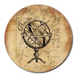 Discover The World 8  Mouse Pad (Round)