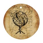Discover The World Round Ornament