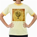 Discover The World Women s Ringer T-shirt (Colored)