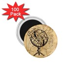 Discover The World 1.75  Button Magnet (100 pack)