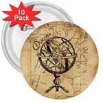 Discover The World 3  Button (10 pack)