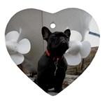French Bulldog Heart Ornament