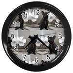 French Bulldog Wall Clock (Black)