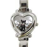 French Bulldog Heart Italian Charm Watch