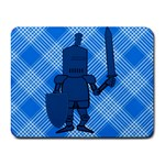 Blue Knight On Plaid Small Mouse Pad (Rectangle)