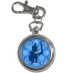 Blue Knight On Plaid Key Chain Watch