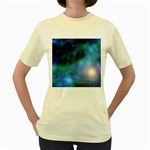 Amazing Universe Women s T-shirt (Yellow)